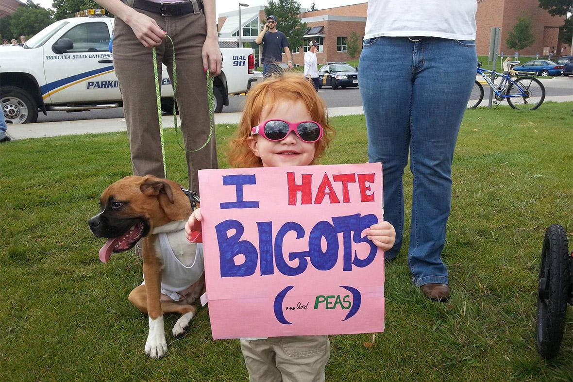 i hate bigots and peas