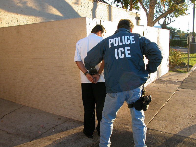 ICE Agents in Police Jackets Seize Undocumented Man Outside His Daughters' School