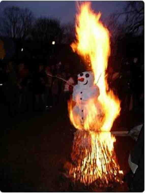 Snowman Burning Day