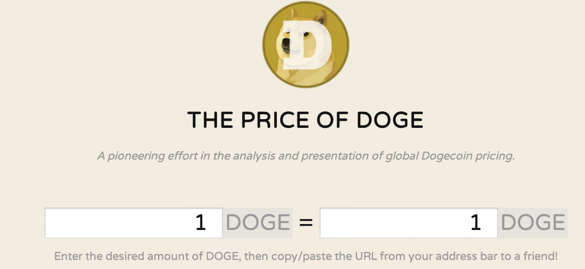 The Price of Doge