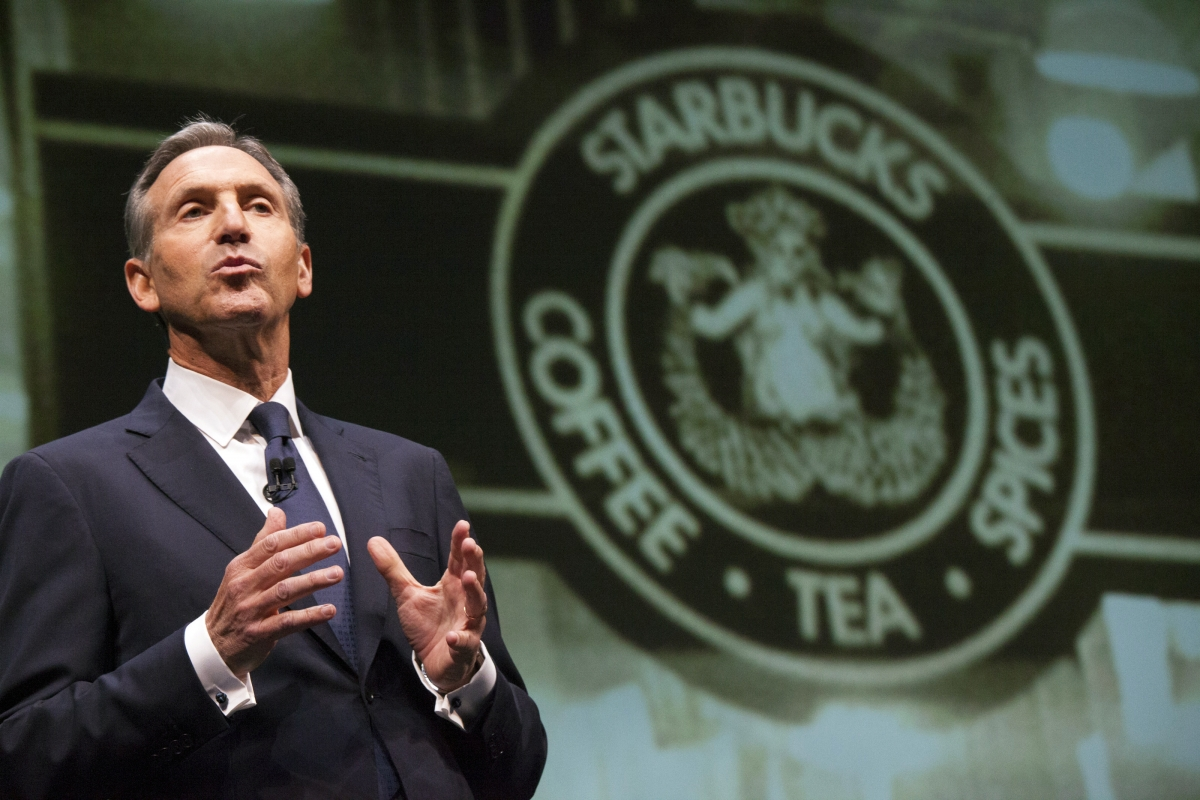 Starbucks CEO Howard Schultz