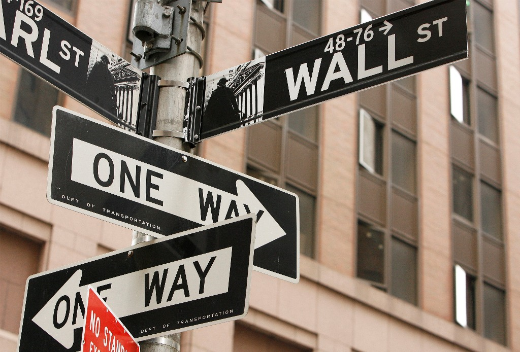 Wall Street Sign New York US