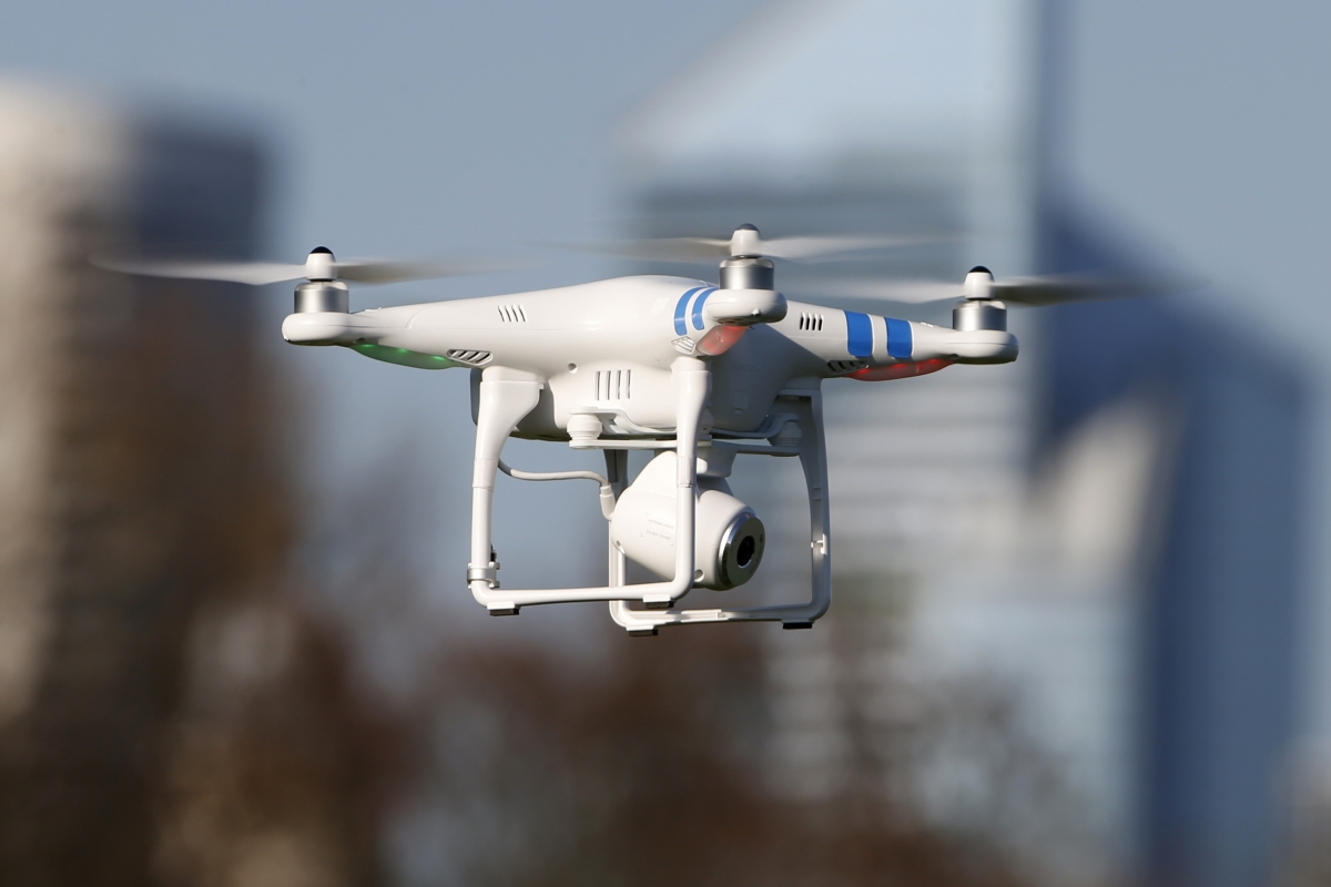 A flying helicopter drone has crashed into a Dublin prison, laden with drugs