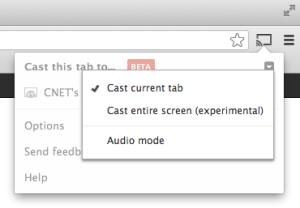 Chromecast Cast Entire Computer Screen