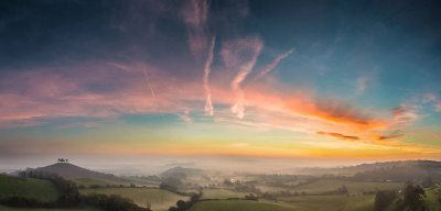 Stephen Banks, Winter sunrise over West Dorset, Bridport, West Dorset, UK