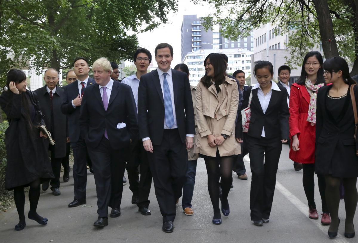 Boris Johnson and George Osborne