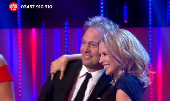 Jason Donovan and Kylie Minogue on Sports Relief