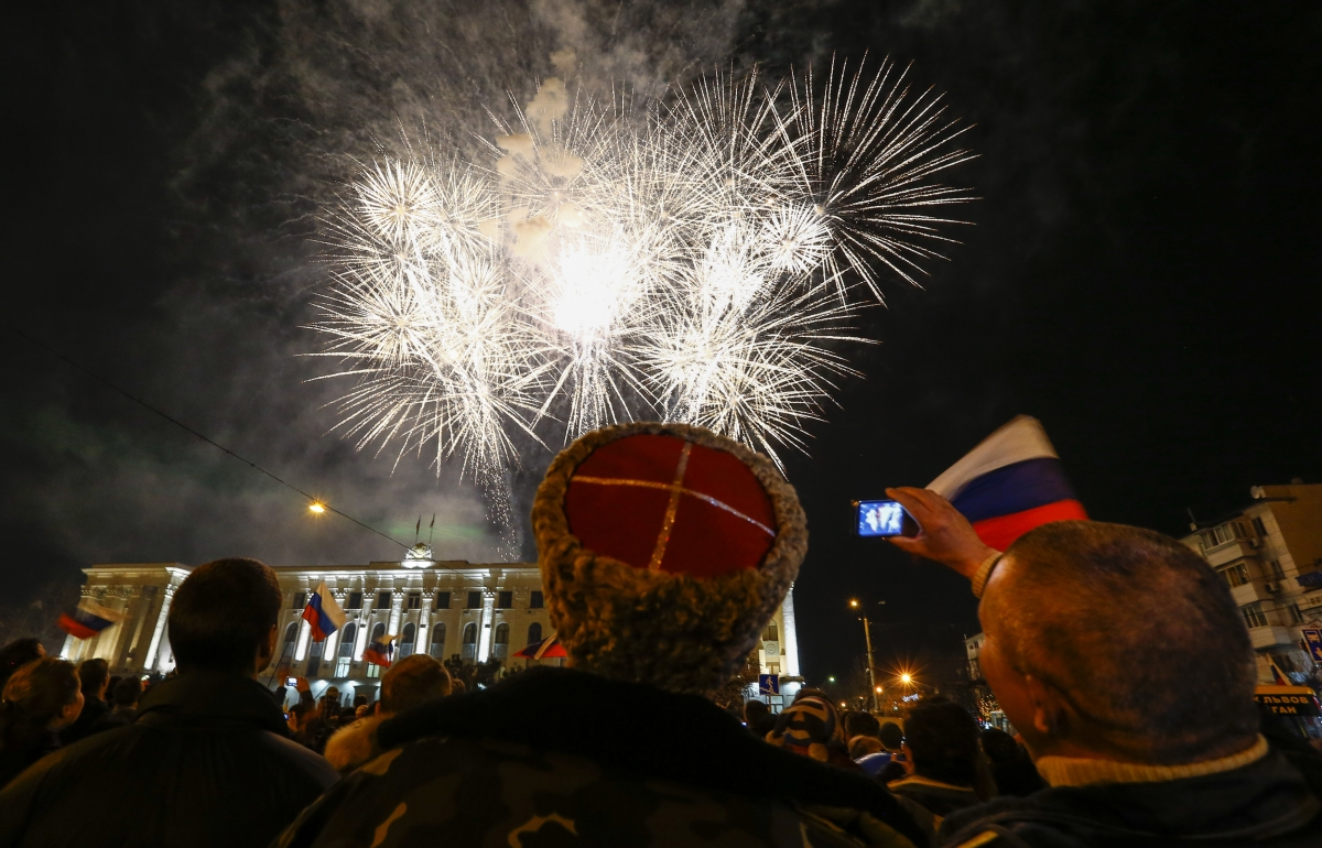Crimea celebrations over union with Russia