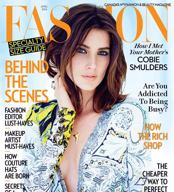 Cobie Smulders talked about How I Met Your Mother experience in the April issue of Fashion magazine.