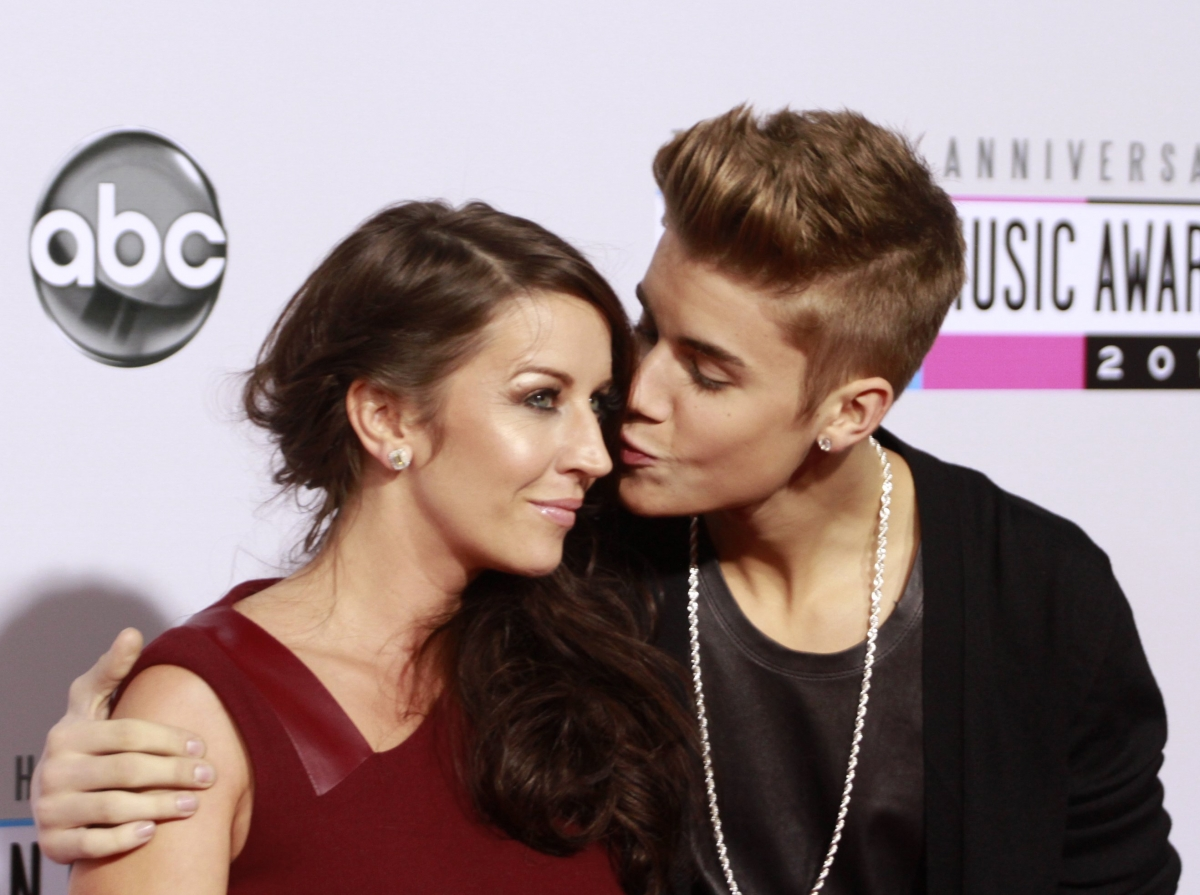 Justin Bieber with mother and former manager Pattie Mallette