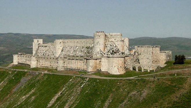 Krak des Chevaliers before the civil war.