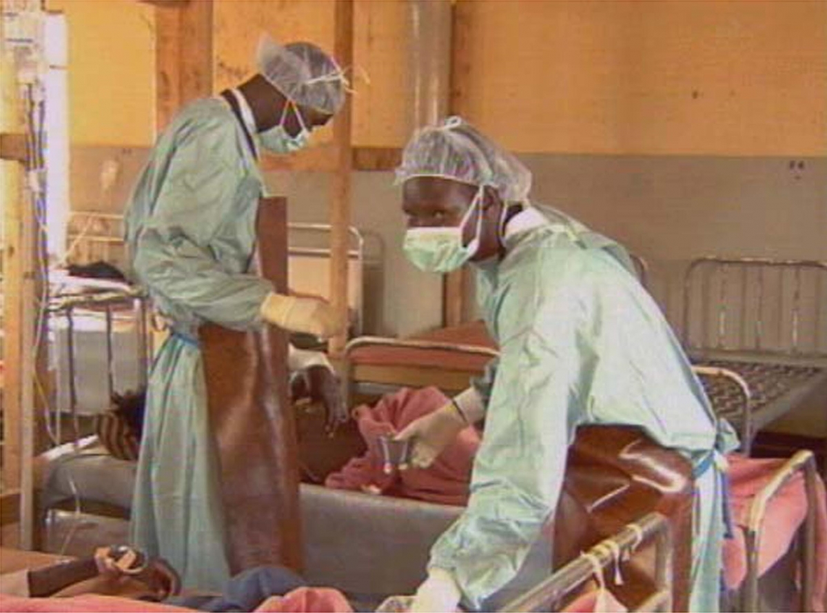 Doctors Treat Ebola Patient