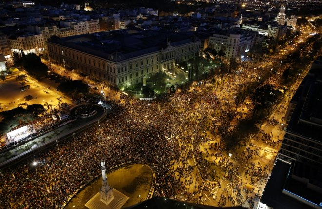 Tens of thousands of Spaniards descended on Madrid for the so-called 'Dignity Marches'
