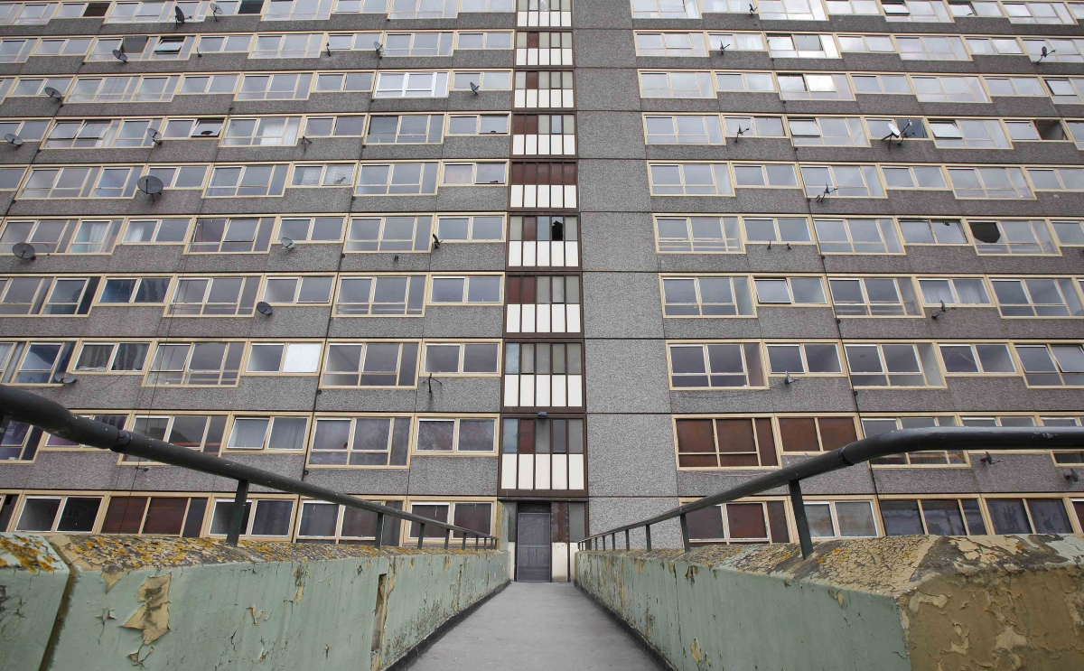 An estate in Elephant and Castle, south London.