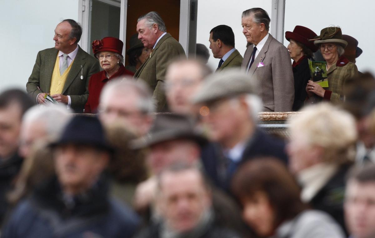 The Queen at Cheltenham races in 2009.