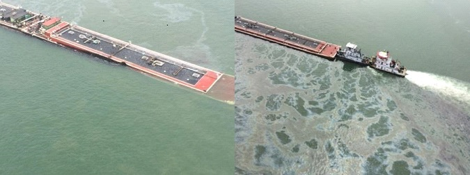 Texas oil slick