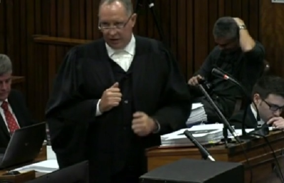 """Precious: Kenny Oldwage appeared distressed at being """"interrupted"""" by witness Anette Stipp on the first day of week four of the Oscar Pistorius murder trial"""