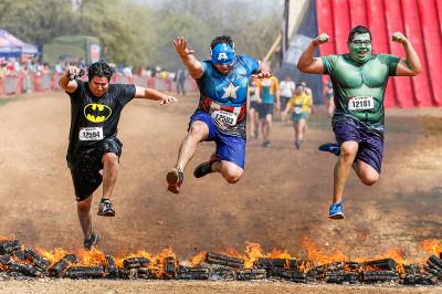 warrior dash superheroes