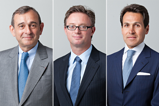 Claude Dauphin, (L-R) Claude Dauphin, Executive Chairman, Jeremy Weir as new CEO, Mariano Marcondes Ferraz, Member of the Management Board, Trafigura