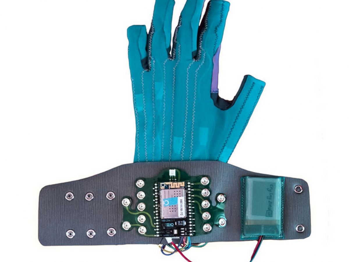 Imogen Heap's Mi.Mu gloves can control sounds and create audio effects with the swipe of a finger