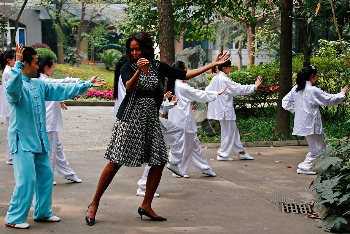 Michelle Obama taichi