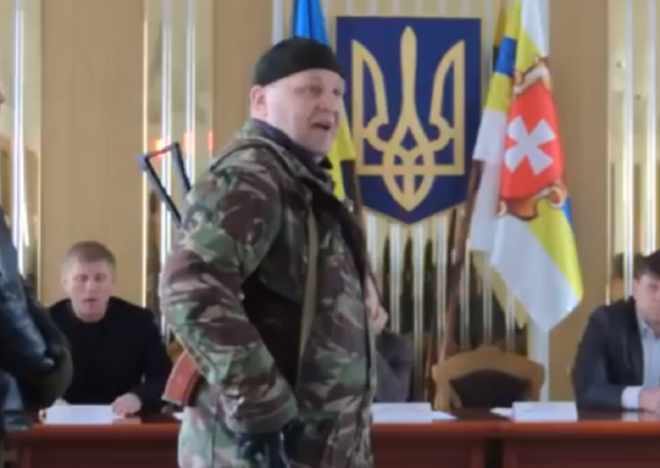 Ukraine's nationalist Right Sector leader Oleksandr Muzychko aka Sashko Bily