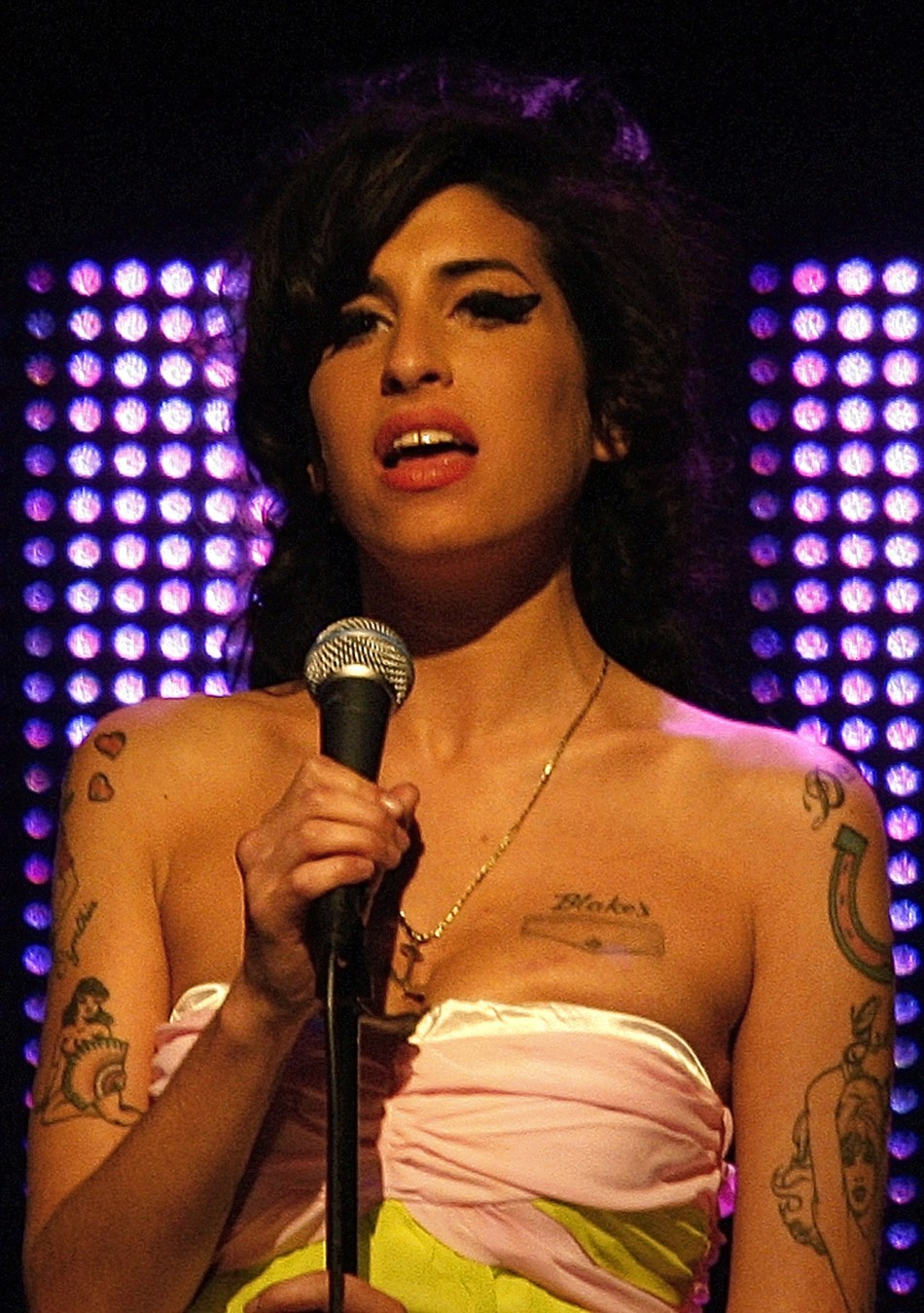 Amy Winehouse died on 23 July, 2011 aged 27 at her London home. She had been struggling with substance abuse for years. The cause of her death is unknown as yet.
