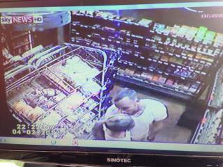 CCTV footage shown in court of Oscar Pistorius and Reeva Steenkamp kissing in a supermarket