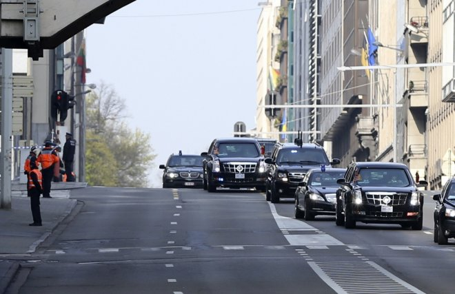 Obama Belgium Motorcade Bomb Bus Package