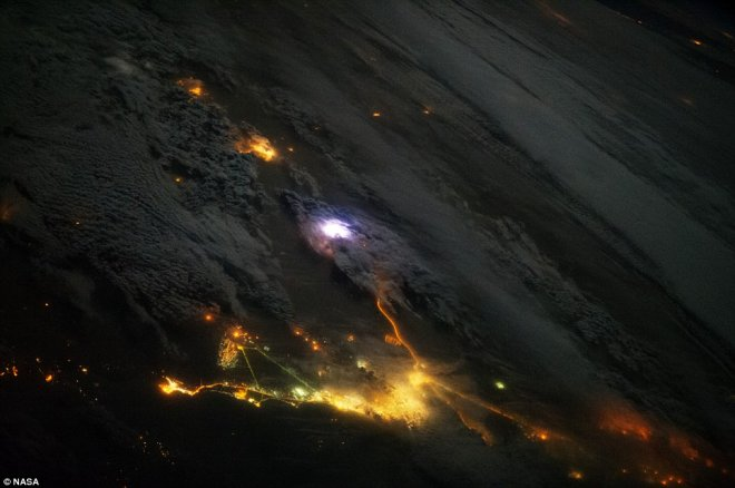 Lightning strike over Saudi Arabia
