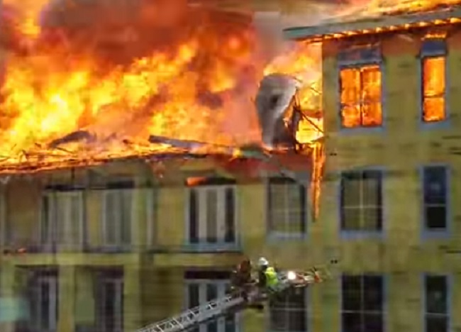 Amazing Video of Fire Rescue from Houston Building Inferno