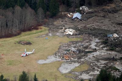 mudslide aerial