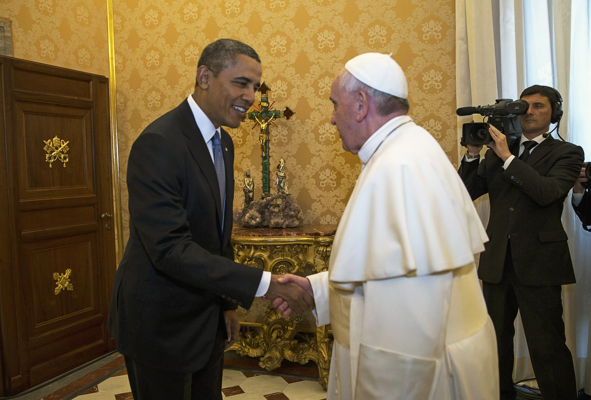 US President Obama Meets Pope Francis