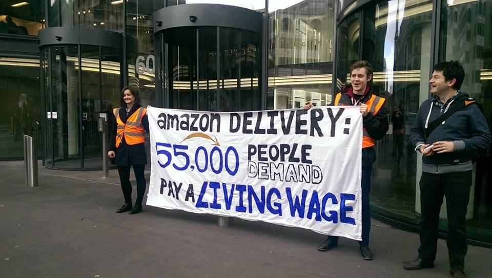 Amazon Anonymous protesting in Central London