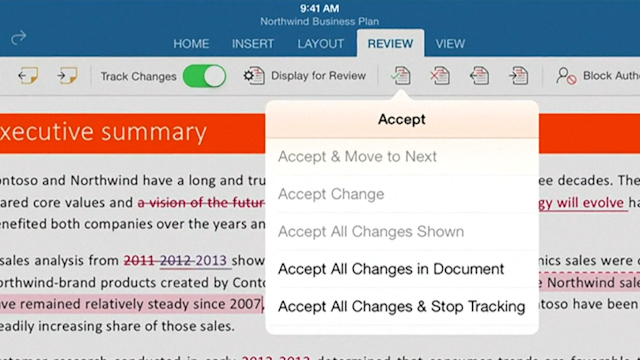 Microsoft Unveils Office Apps for iPad