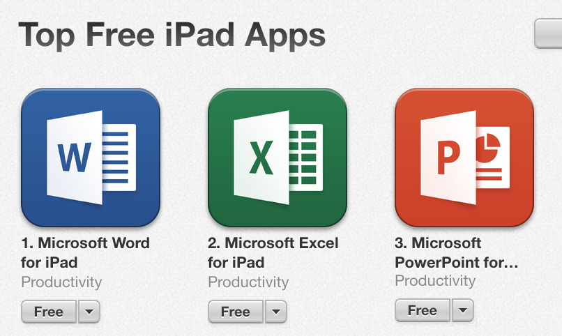 Office for iPad - Word, Excel, PowerPoint