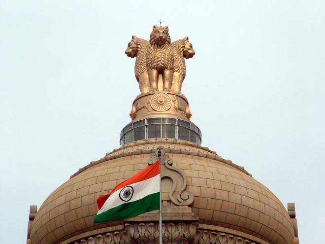 India flag and emblem