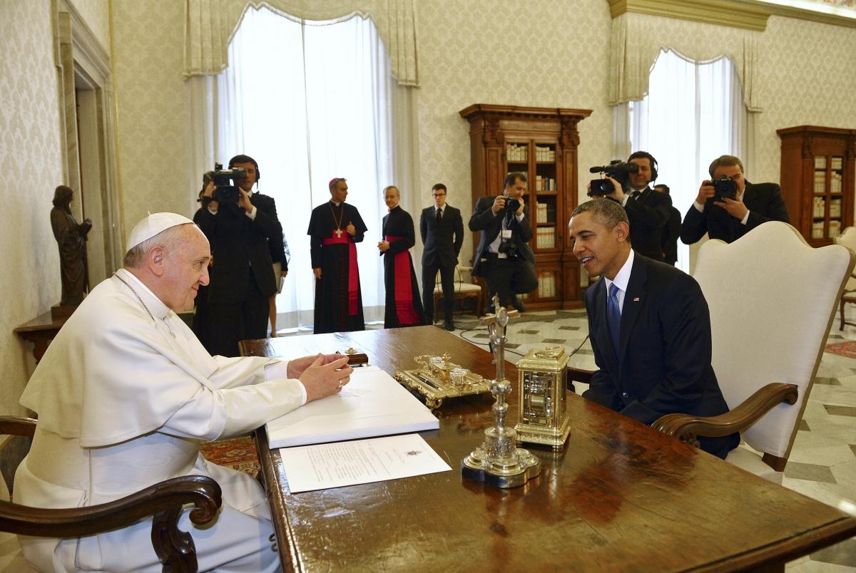 Barack Obama meets Pope