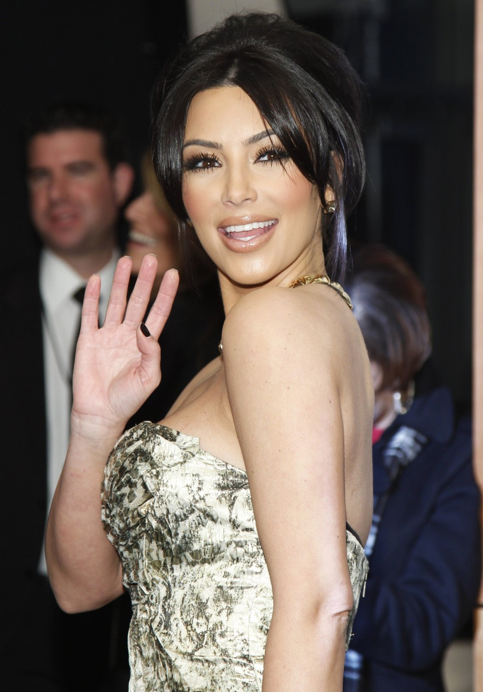 Reality TV star Kim Kardashian poses after winning the favorite guilty pleasure award at the 2011 People039s Choice Awards in Los Angeles