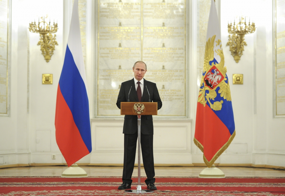 Putin Boasts of Russian Military Power as Troops Buildup ...