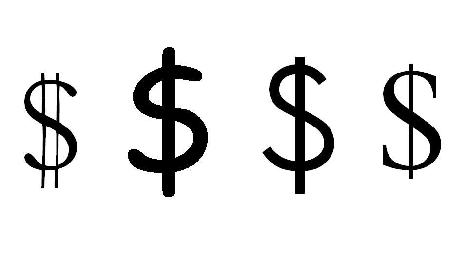 Typeface millions cost font
