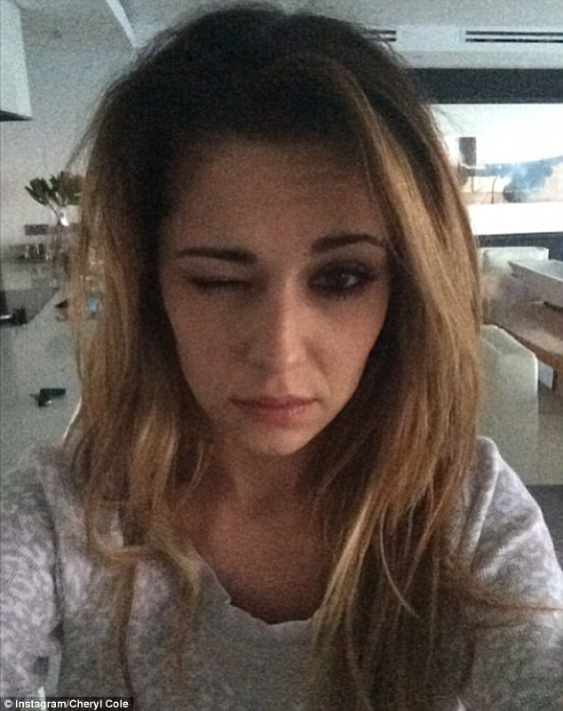 Cheryl Cole's bare faced selfie for the cancer Research campaign.