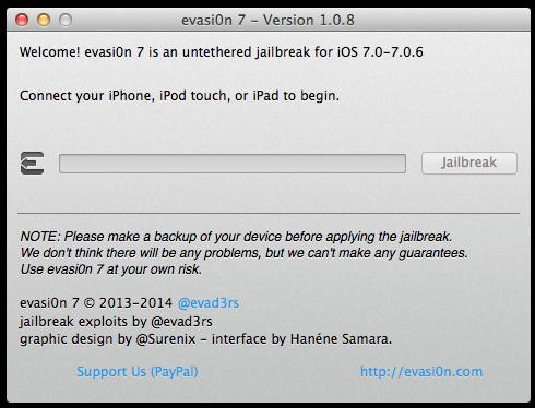 Evasi0n7 1 0 8 Released: How to Jailbreak iOS 7 0 - 7 0 6 Untethered