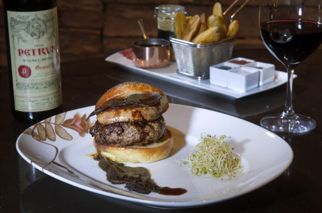 The Fleur Burger 5000 costs $5,000 and is made from wagyu beef, foie gras and truffle