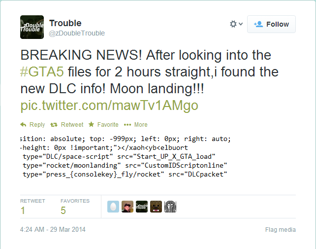 GTA 5: YouTubers Find Game Code for Space, Rockets and Moon Landing DLCs