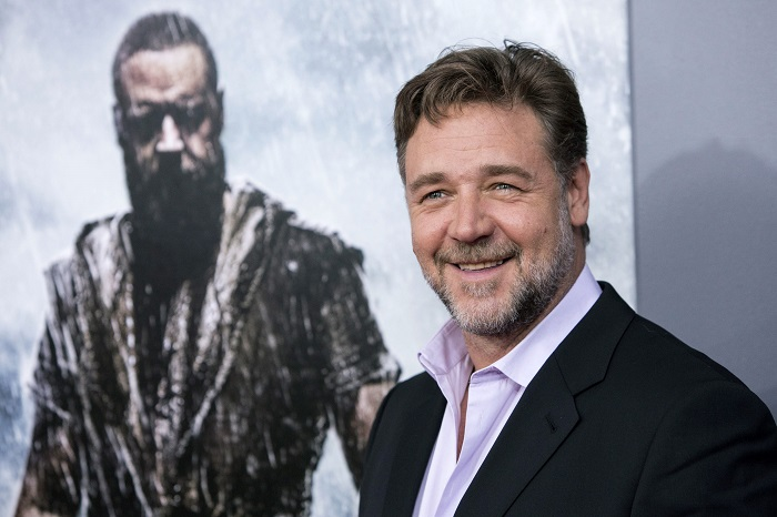Russell Crowe at the US premiere of Noah in New York.