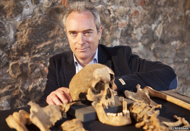 Crossrail's lead archaeologist Jay Carver says the find solves a 660-year-old mystery