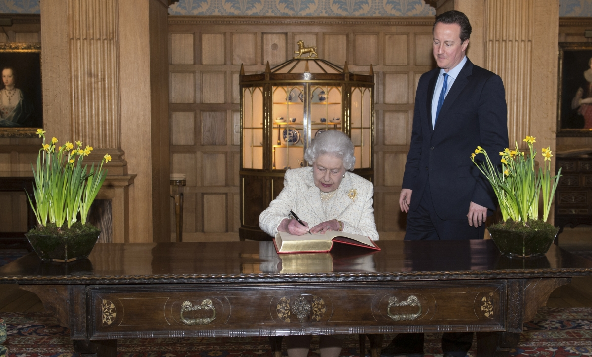 """The Queen and David Cameron: The PM is accused of """"bad manners"""" and running a """"zombie parliament"""""""