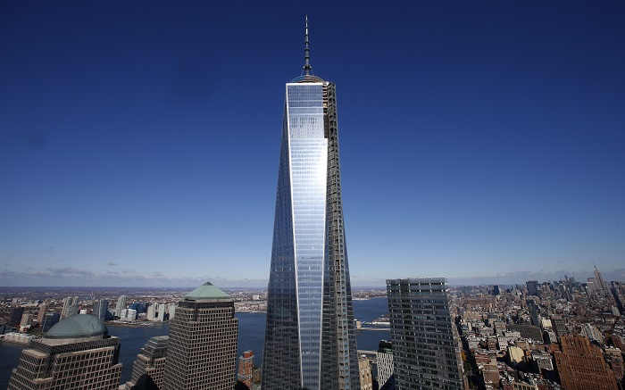 The One World Trade Center flagship tower is due to open in New York later this year.