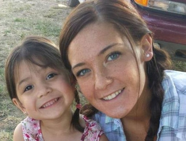 Zoie Dougan pictured with her mother Alyssa.